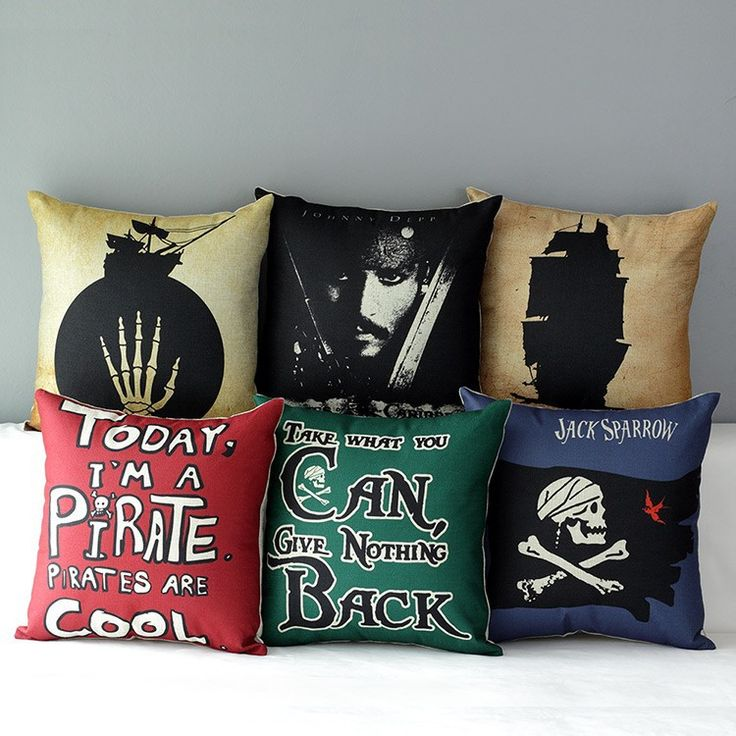 Pirates of The Caribbean Pillow Cover //Price: $14.95 & FREE Shipping //