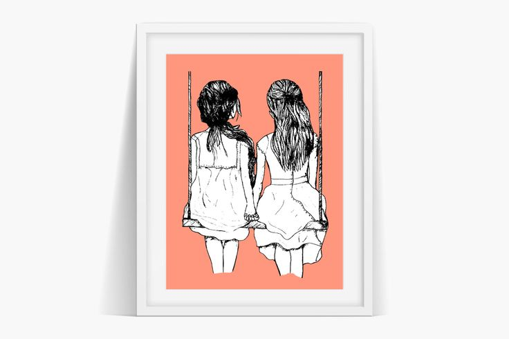 Sisters Friends Art