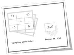 Un jeu de loto sur les tables d 39 addition cp pinterest - Table de soustraction de 1 a 10 a imprimer ...