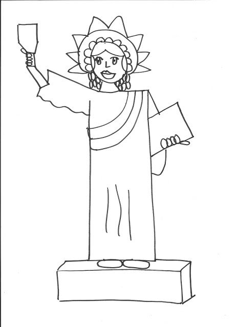 statue of liberty drawing template - 25 best ideas about statue of liberty drawing on