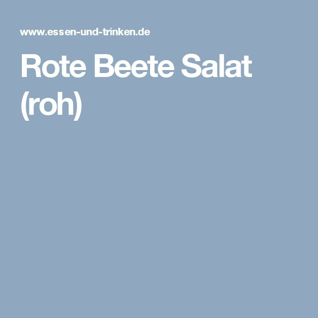 Rote Beete Salat (roh)