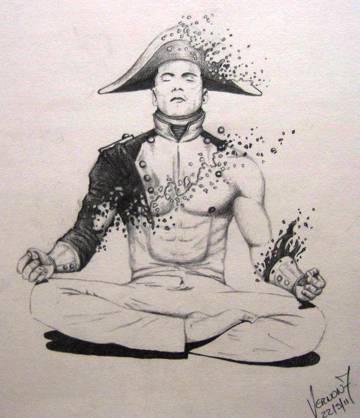 by Vernon Fourie | illo illustration pencil drawing meditation spirit inner peace napoleon