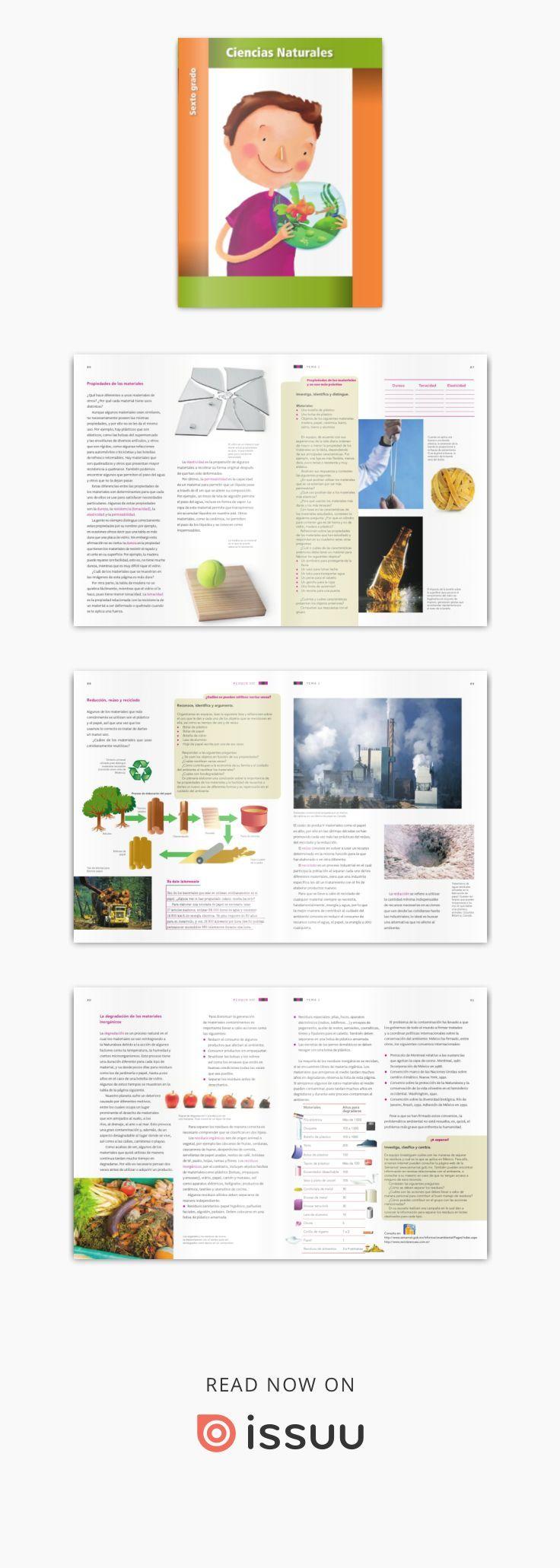 Ciencias Naturales 6to Grado Ciencias Naturales Libro De Texto Ciencia