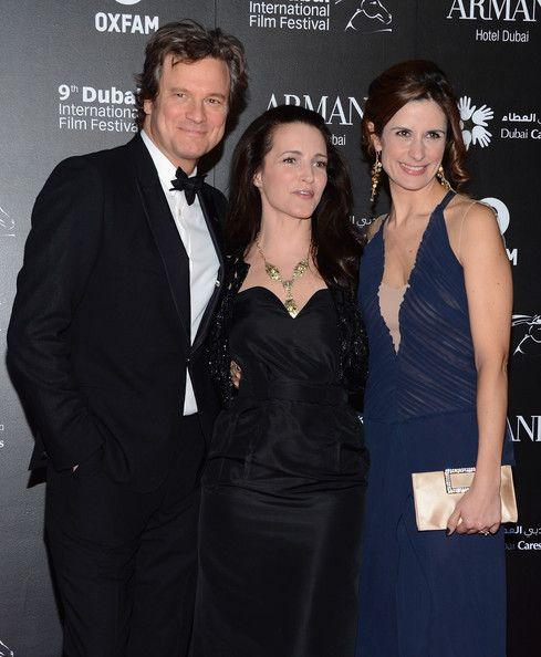 "Colin Firth Photos Photos - Actor Colin Firth, actress Kirstin Davis and Livia Firth attend the 2012 Dubai International Film Festival, Dubai Cares and Oxfam ""One Night to Change Lives"" Charity Gala at the Armani Hotel on December 14, 2012 in Dubai, United Arab Emirates. - 2012 Dubai International Film Festival, Dubai  Cares and Oxfam 'One Night to Change Lives' Charity Gala"