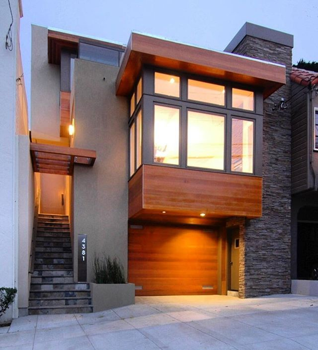 Warm Modern in Noe Valley designed by Mark Brand Architecture.  San Francisco, California, #USA @arch.dose