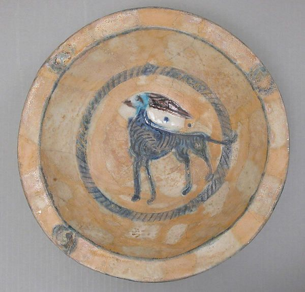 Bowl Date: 12th century Geography: Syria Culture: Islamic Medium: Earthenware; glazed