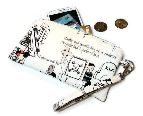 So cute! Zombie Apocalypse Cell Clutch
