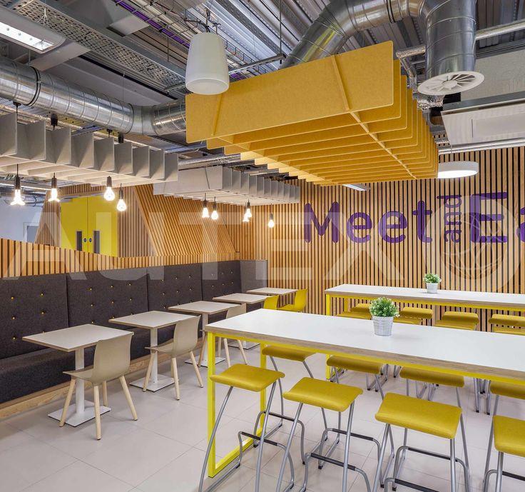 Quietspace® Lattice, Trapezium - Loughborough University, UK - Suspended from ceiling - Colour: Senado - Modern Learning Environmental