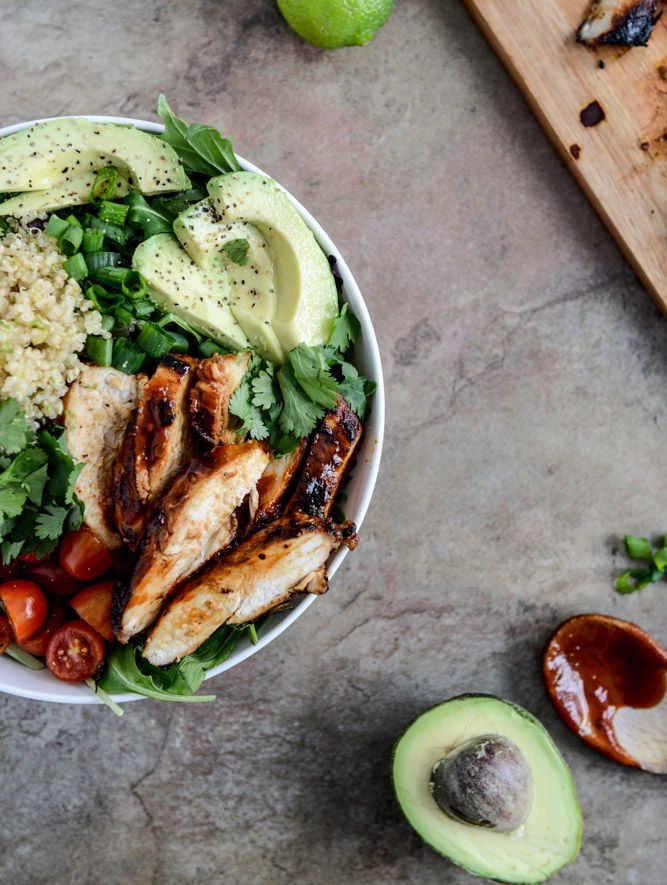 Honey Chipotle Chicken Bowls with Lime Quinoa. | food | Pinterest | Food, Honey chipotle chicken and Chicken