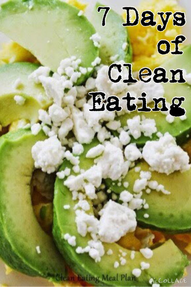 Click pin for 7-day clean eating meal plan - and have a healthy week! #weightlosshelp #healthyeating #cleaneating