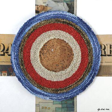 """Saatchi Art Artist Graziella Coi; Painting, """"12x12_Il Bersaglio/12x12_The Target """" #art"""