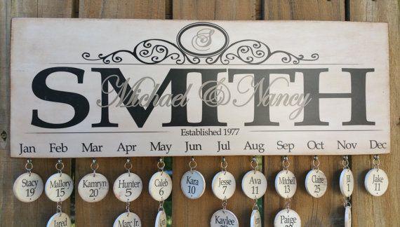 Personalized Custom Family Birthday Board by LizzyFishSigns