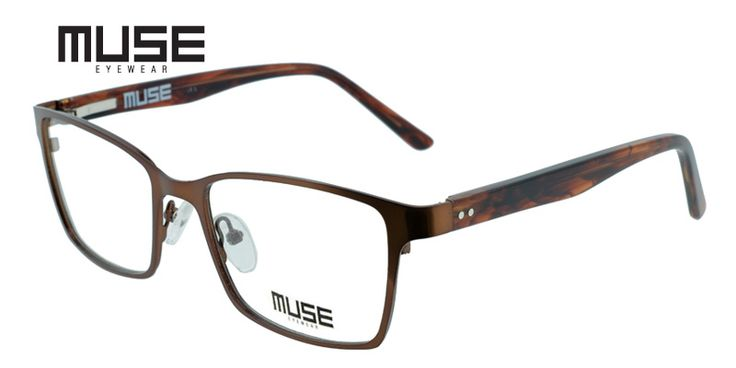 Muse Dwight Brown are among the most stylish glasses for men online. Due to their slick bronzy-brown colored metal, around the fully framed squared lenses, and the unique wood-like brown acetate stems, they are perfect for everyday business attire! For added comfort and convenience, they even come with spring hinges to keep them sharp, and fitting perfectly!