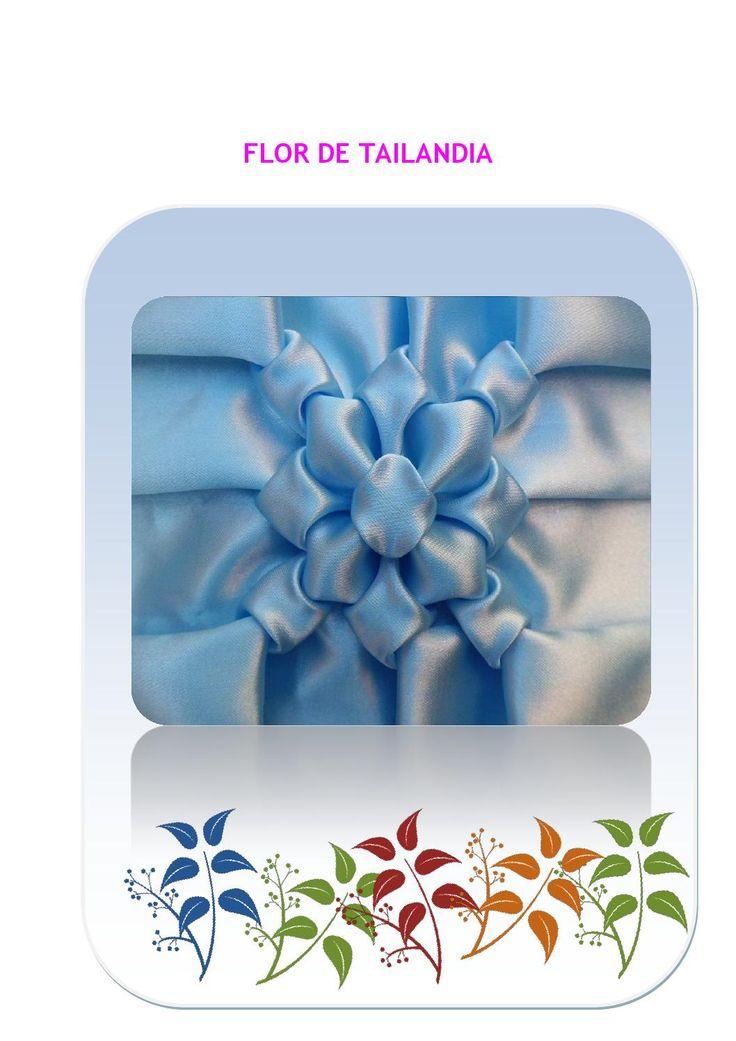 Flor de tailandia  pasa a paso como realizar el punto Flor de Taylandia