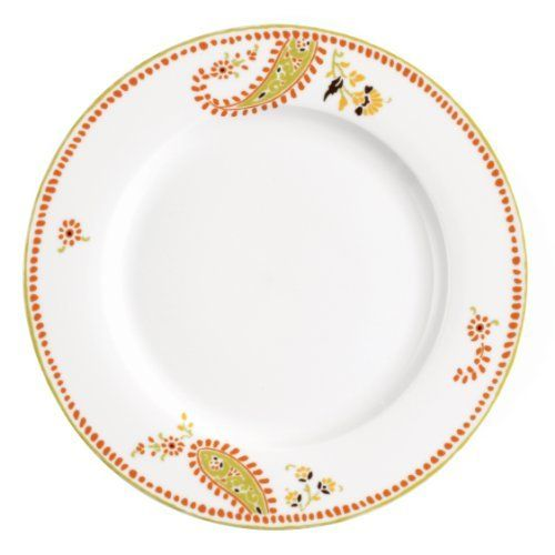 Rachael Ray Dinnerware Paisley Dinner Plate Set, 4-Piece by Meyer. $27.95. Bold orange and cool green paisley design will delight your sense of style for every occasion from casual meals to entertaining friends. Dishwasher safe for quick and easy cleanup. 4-piece dinner plate set includes four 10-1/2-inch dinner plates. Durable porcelain dinnerware in a bright, floral accented pattern for a stylish, contemporary table setting. Microwave safe for easy heating and reheati...
