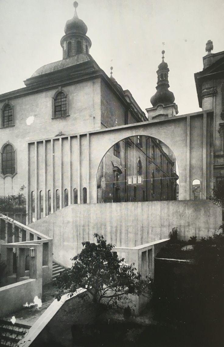 Entrance slope to the Church of the Virgin Mary at Hradec Králové, Josef Gočár, 1909-10