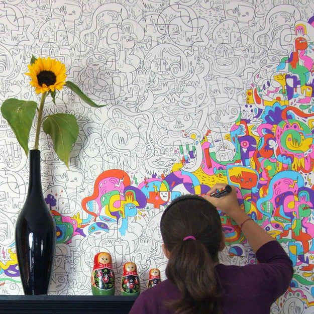 Get this color-in wallpaper (and then actually color it in!)