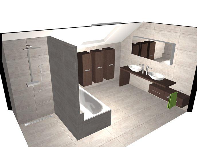 51 best images about 3d ontwerpen badkamers on pinterest toilets studios and wands - Badkamer in een kamer ...