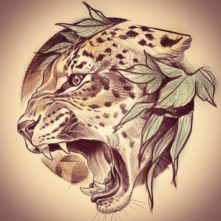 """79 Me gusta, 1 comentarios - Dan Jones (@danjones_tattoo) en Instagram: """"Jaguar for tomorrow!! Should be fun!! #jaguartattoo #neotraditional #neotraditionaltattoo…"""""""