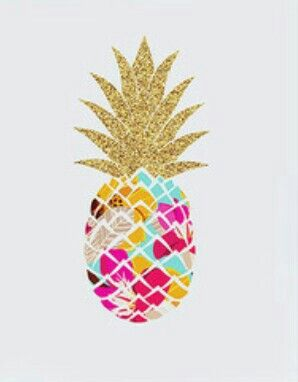Gold pineapple background
