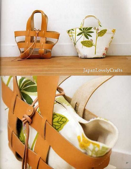 CLOTH AND LEATHER BAG - JAPANESE SEWING PATTERNS BOOK FOR BAGS - HEART WARMING LIFE SERIES 20 by JapanLovelyCrafts, via Flickr