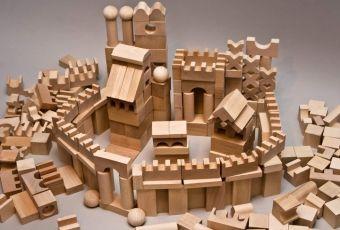Dřevěné kostky v krabičce - Dřevěné kostky 220
