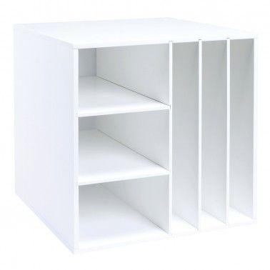 Multi-Shelf Organizer Cube - Classic White