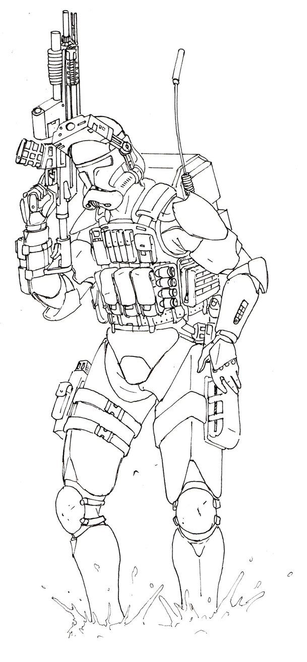 Clone Trooper Lines By Halonut117 Star Wars Clone Wars Coloring Pages Cartoon Coloring Pages