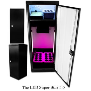 Small grow cabinets – is it what you are looking for? What if we have small grow cabinets with both vegetable cabinet and flowering cabinet in two separate sections? It is what LED SuperStar from SuperCloset provides.