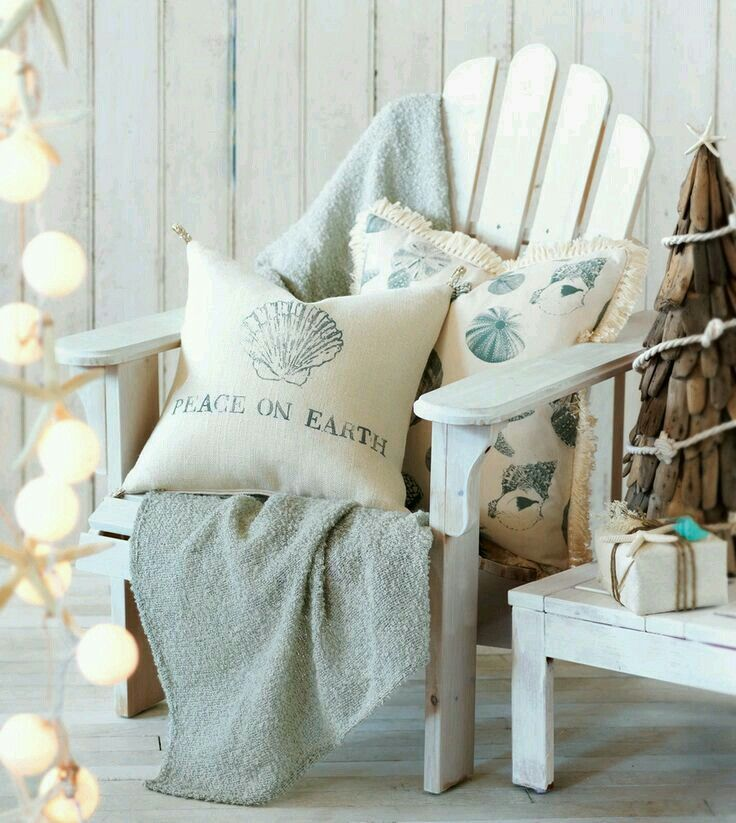 The Coastal Tidings Collection From Eastern Accents Is A Happy Beachy  Christmas Holiday Collection That Includes Christmas Pillows, A Shel.