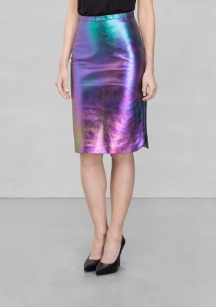 & Other Stories Oily Skirt - £125.00