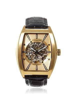 78% OFF Stuhrling Men's 182C3.333531 Leisure Millennia Black/Gold Stainless Steel Watch