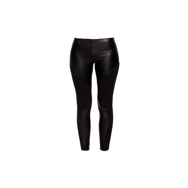 Becca Wet look Legging with Mesh Panelling at boohoo.com ($19) ❤ liked on Polyvore featuring pants, leggings, bottoms, jeans, black liquid leggings, black trousers, liquid leggings, becca cosmetics and black pants