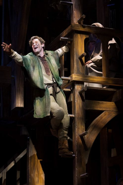 THE HUNCHBACK OF NOTRE DAME at Paper Mill Playhouse Photos by Jerry Dalia -- Michael Arden as Quasimodo