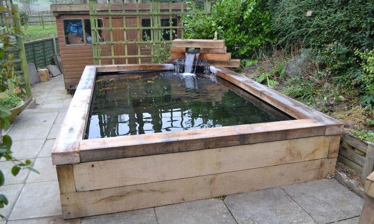 Raised koi pond design images for Raised koi pond design