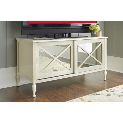 Hollywood Mirrored TV Stand from target...but i think its too small for our tv