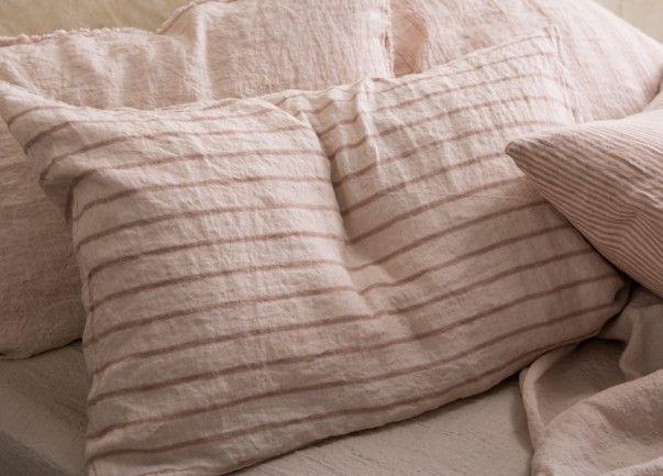 Pillowcases linen stripe