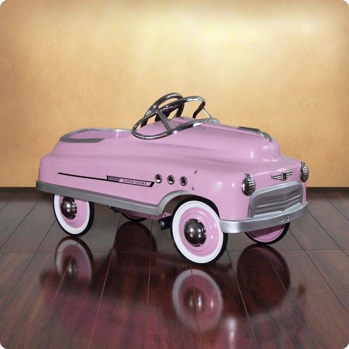Dexton Pink Comet Sedan Pedal Car for Kids - CURRENTLY ON BACKORDER UNTIL SUMMER OF 2017