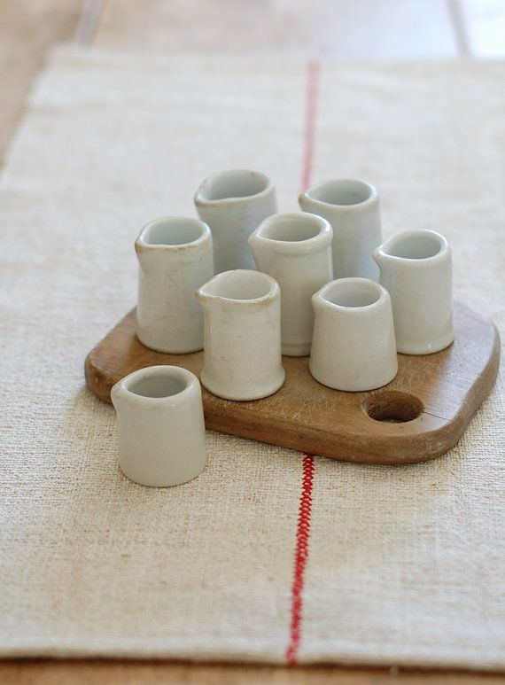 Collection of Ironstone Creamers  8 Individual by FrogGoesToMarket, $45.00