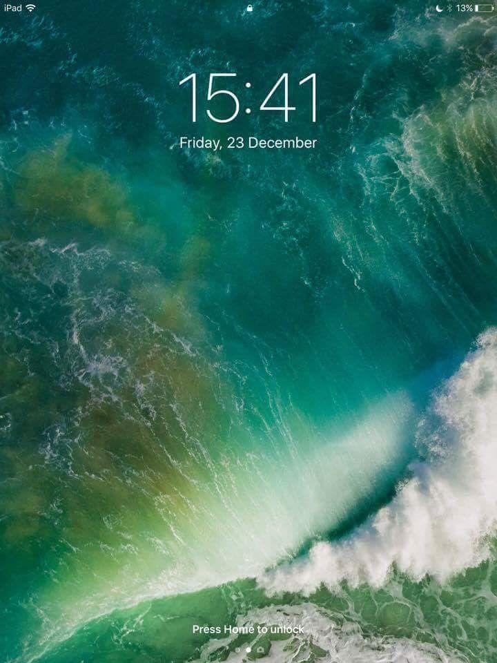 screenshot from iPad running IOS 10