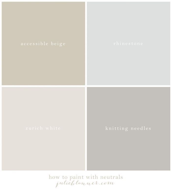 Learn how to paint with neutrals & a beautiful paint color palette at julieblanner.com