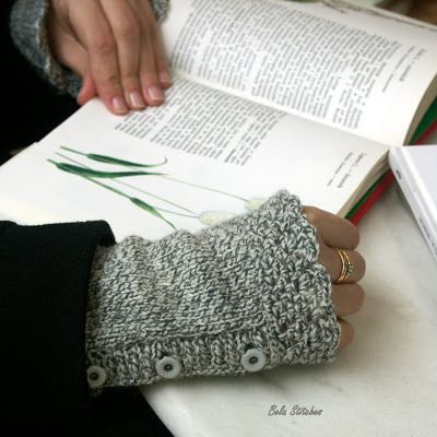 Bela Stitches:  knitted wrist warmers