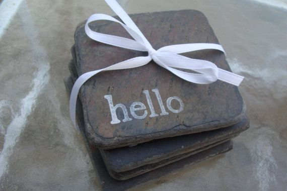 slate tile coasters - these are very unique!