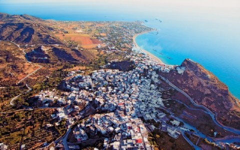 Aerial view of Skiros, Greece