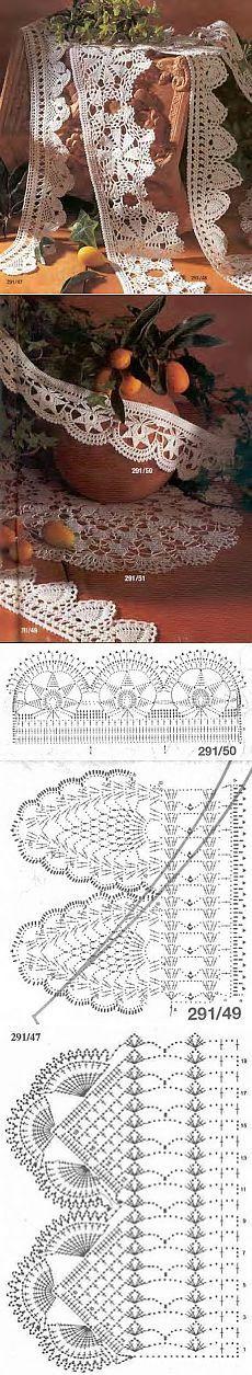 Как вязать кайму. Кайма (бордюр) из старенького номера Журнала BURDA. .#crochet #edging #threadcrochet WOW WOW WOW
