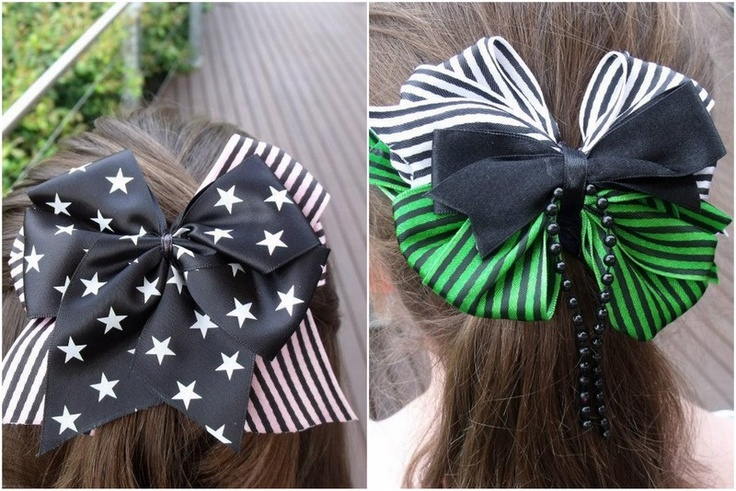 Pheobe & Chloe wearing large double and triple bows by EvilEvieEmporium.com