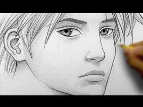 """How to Draw a """"Realistic"""" Manga Face, Line by Line (three quarter profile)  A great tutorial by Mark Crilley"""