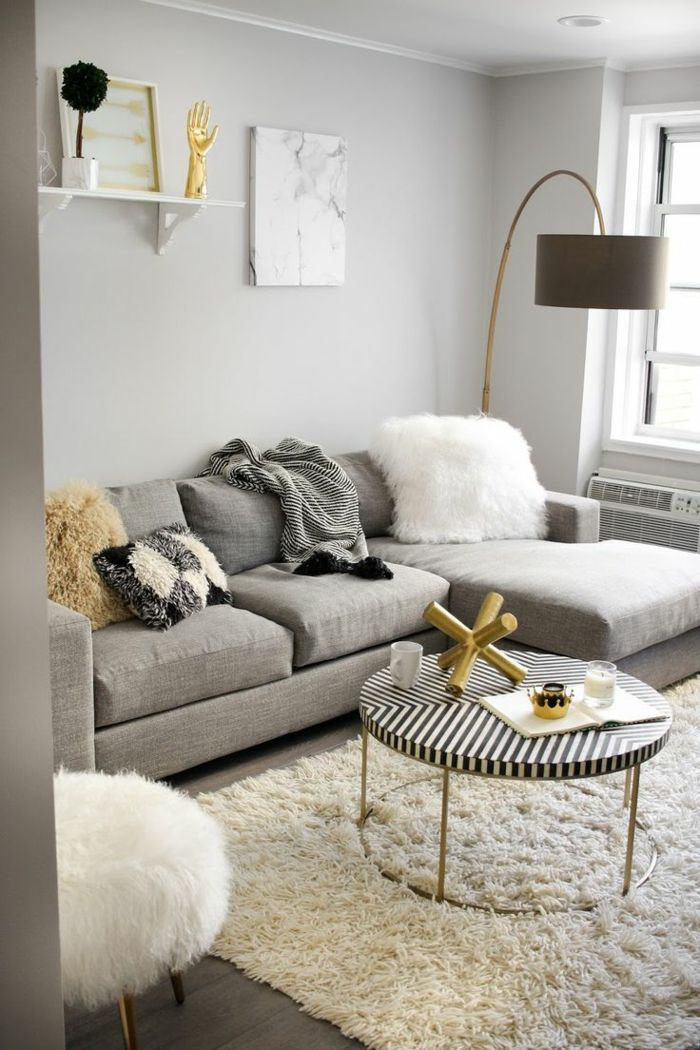 1001 ideas sobre decoraci n sal n gris y blanco - Ideas decoracion salones ...