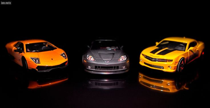 Still Life Photography, having fun with my supercar diecast (Lamborghini; Corvette; Chevy)