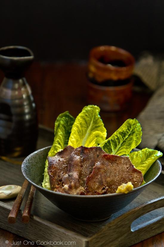 Gyutan (BBQ Beef Tongue) by Nami at justonecookbook.com